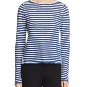Eileen Fisher Knit Top NWT Size XS Blue/White